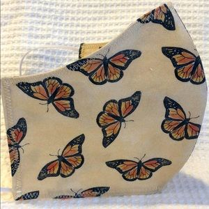 Butterfly print face mask